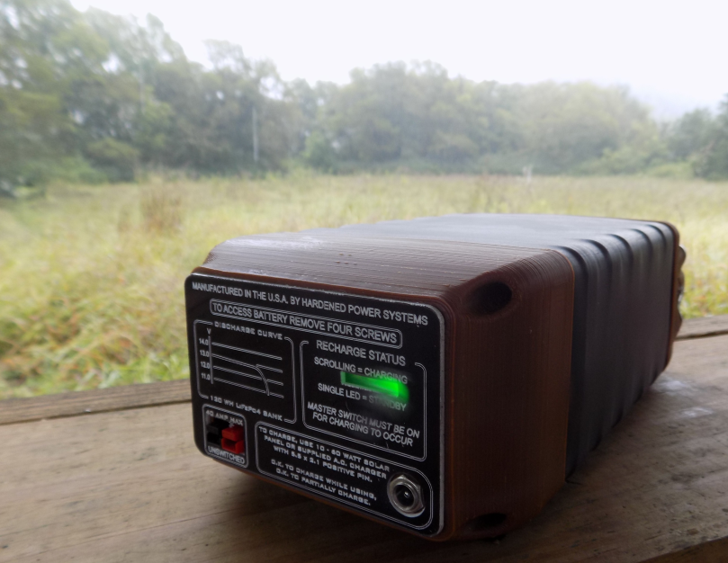 Cadet MK1 LiFePo4 Portable Power Station, rear view