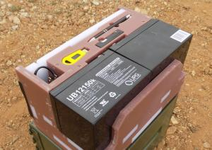 JuiceBox G2 Portable Solar Generator - Rear View Exposed